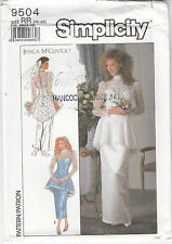 Simplicity Sew Pattern 9504 Wedding Gown Bridesmaid Dress Mother of Bride Uncut