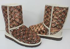 Ugg Classic Short sparkles sequin Champagne  boots New In Box!
