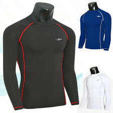 NEW MUSCLE COOL Mens Slim Fit Long Sleeve Crew Neck Sports T-Shirt Casual Tops