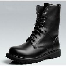 US Size 5.5-9.5 New Black Combat Leather Lace Up Mens Military Ankle Boots Shoes