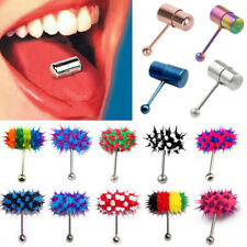 Fashion Vibrating Ring Stainless Steel Tongue Bar Body Jewelry Piercing Stud