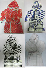 Girl / boy bath towel robe ex  PETIT BATEAU  dressing gown 2 - 14 years RRP £40