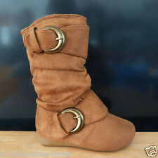 Baby Toddler & Infant Tan Dress Casual Slouchy Flat Boots Size 5