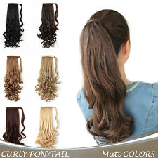 "Onedor 20"" Long Synthetic Curly Wrap Around Clip in Ponytail Hair Extension"