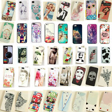 Lovely Cute Pattern Hard Back Skin Case Cover Protector For iPhone 4S 4 5S 5G