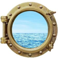 Ocean View Porthole Wall Decal Sea Graphics Wall Art Room Decor Peel and Stick