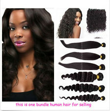 Brazilian Remy Straight Deep Curly Wave Virgin Human Hair Weaving Extensions 50g