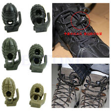 Hand Grenade Shoe Lace Shoelace Buckle Stopper Rope Clamp Paracord Cord Lock New