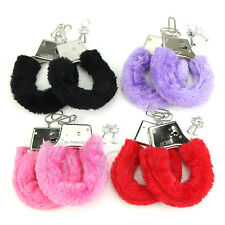 Sexy Stylish Furry Fuzzy Handcuffs Soft Metal Adult Hen Night Party Game Gift