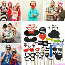 DIY Photo Booth Lips Props Sticker Mustache On Wedding Birthday Christmas Party