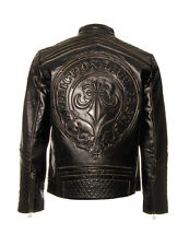 Affliction Black Premium Live Fast Men's Leather Biker Jacket Black Lemmy New