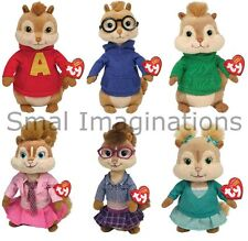 Ty Alvin and the Chipmunks Beanie Babies Plush Soft Toy Teddy