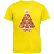 Breakfast Bacon And Eggs Christmas Tree Yellow Adult T-Shirt