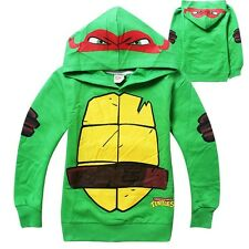 Teenage Mutant Ninja Turtles Kids Boys Tops T-Shirt Hoodie Pullover Costume 3-8Y
