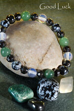 Gemstone & Crystal 'THEMED' Power Bracelets for Luck, Health, Wealth & Happiness