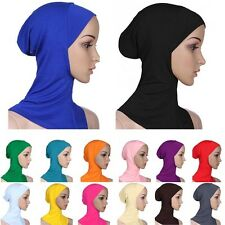 Under Scarf Hat Cap Bone Bonnet Hijab Islamic Head Wear Neck Chest Cover L23