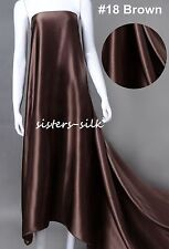 """22mm 100% Pure Silk Fabric Bridal Clothing Sewing Wide 45"""" 12 Colours Sistersilk"""