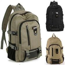 Outdoor Men WOMEN's Vintage Canvas Backpack Rucksack School Satchel Hiking Bag