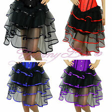 Frilly Long Skirt Plus Size 6-24 Fancy Dress Burlesque Dancewear Costume Outfit
