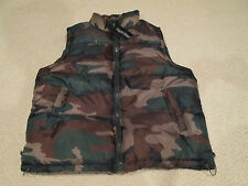NWT Men's Regal Wear Green Camouflage Camo Puffer Puffy Vest BIG SIZES