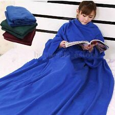 Home Fleece Supper Snuggie Robe Cloak Winter Warm Soft Blanket Gift With Sleeves