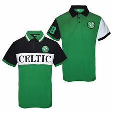 Celtic FC Official Football Gift Mens Polo Shirt Green (RRP £29.99!)