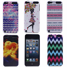 Flame Diamond Flower Girl Pattern Hard Back Case Cover for iPod Touch 5 5th Gen