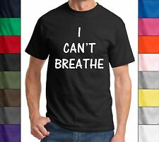 I Can't Breathe T Shirt NYPD Protest Rally Shirt Political Police Cop Choke Tee