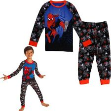 2PCS Kids Boys Spiderman Pajamas Shirt + Long Pants Sleepwear Homewear Clothes