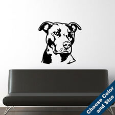 Pit Bull Wall Decal - Dog Vinyl Sticker