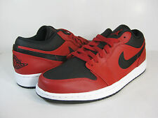 AIR JORDAN 1 LOW Gym Red/Black-White -553558 602- MENS ATHLETIC