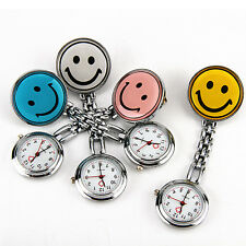 4 Colors Smile Face Nurse Watch Round Dial Silicone Pocket Pin Tunic Fob New