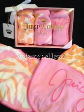 JUICY COUTURE LOT OF (3) BABY GIRLS ASSORTED BIBS ~ NEW W/ BOX ~ RETAIL: 38.00