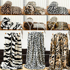 Faux Fur Mink Animal Skins Blanket Sofa / Bed Throw in Large & X-Large Size