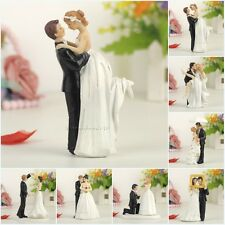 Bride Groom Couple Figurine Resin Wedding Cake Topper Decoration Gift Favors