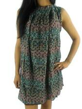 Manila Grace Dress Summer Dress Sfera Brown Patterned Silk