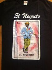 El Negrito Mexican Lottery La Loteria 100% Cotton Shirt Black New Style