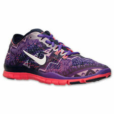 NEW Nike Free 5.0 TR Fit 4 Print Womens Running US #629832-402 Obsidian/Grape