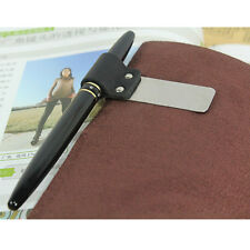 New Practical Pen Holder Genuine Leather Notebook Book Bookworm Gadget Pen Clip