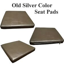 Metalic Old Silver Faux Leather seat pads Leatherette cushions for chairs bench