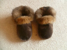 New Zealand Possum Fur Moccasin Style Slippers with Soft Leather Sole