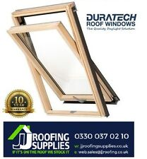 2 x Velux/Duratech Centre Pivot Roof Window 780 x 1400mm with Flashing