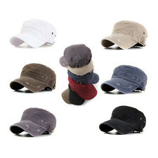 Unisex Mens Womens Casual Faded Washed out Army Military Cap Cadet Soldier Hats