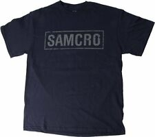 Sons of Anarchy SOA SAMCRO Logo Officially Licensed NWT Adult Blue T-Shirt