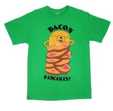 Adventure Time Jake Bacon Pancakes Cartoon Licensed NWT Adult T-Shirt