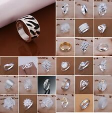 Wholesale Women's Jewelry S925 Sterling Silver SP Ring US size 6 7 8 9 10