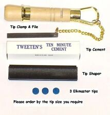 CUE TIP TOOL KIT. EVERYTHING NEEDED FOR TIPPING YOUR CUE. FREE UK P&P