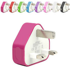 CE COLOUR PLUG WALL MAINS USB CHARGER ADAPTER FOR MOBILE CELL SMARTPHONES
