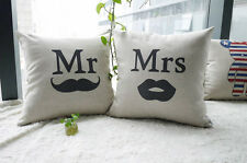 Hot Fashion Household Linen Pillow Creative Personality Mr and Mrs Gift
