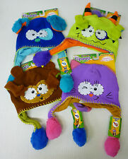 Flipeez Beanie Hats Kids Various Fun Characters Squeeze & Flip As Seen on TV